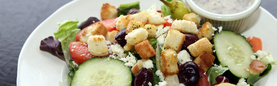 Italian salads with homemade dressings